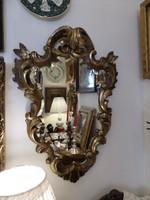 Antik aranyozott faragott fa tükör