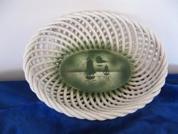 Nagyon régi, Hollóházi porcelán gyümölcskosár