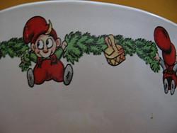 Julius kis ördögös karácsonyi gyerek műzlis tál és csésze ritkaság