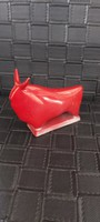 Zsolnay ritka piros  eozin art deco bika