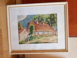 Szentiván/Liptovsky Ján, akvarell festmény, ismeretlen szerzőtől, szignós, méret jelezve!