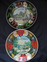 Retro hortobágyi emlék tányérkák műanyagból 2 db egyben