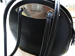 BAGKINGDOM fekete valódi bőr táska