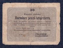 Szabadságharc 30 Pengő Krajczárra bankjegy 1849 (id30027)