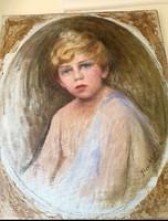 Benkhard Ágoston jelzéssel kisfiú portré !(1895-1982)