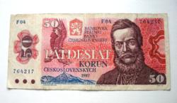 CSEHSZLOVÁKIA - 50 Korún - 1987