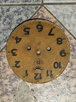 Óraszámlap ónlemezen papir régi antik 100éves, Junghans asztali, fali elemes óra!