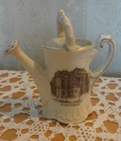 Porcelain ornament watering can with the image of the Budapest Opera
