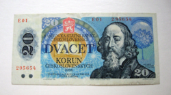 """CSEHSZLOVÁKIA - 20 Korún - 1988 - """"E"""" széria"""