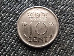 Hollandia I. Vilma (1890-1940 és 1945-1948) 10 Cent 1948 (id31071)