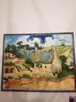 Van Googh olaj reprodukció, festmény