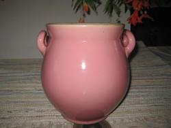 Zsolnay  , rózsaszínű edény  ,szép állapot  , nem  ragasztott , nem restaurált  , 22 cm