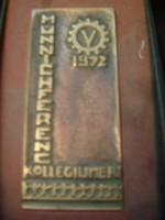 M1-12 JÉ9  Münich Ferenc collégium bronz plakett  dobozában 1972 ritkaság megrendelésre készítették