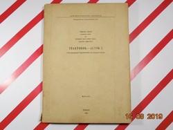 Traktorok Autók I. - Agrártudományi Egyetem Mezőgazdasági Gépészmérnöki Kar kézirat 1967