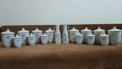 16 darabos fűszertartó porcelán készlet!