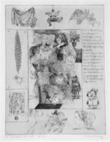 Reich Károly: A windsori víg nők című rézkarca/rézmetszete (I. szín) /William Shakespeare/