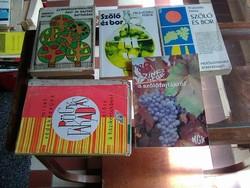 Házikertek, kiskertekről szóló, kézikönyvek, szakkönyvek, szőlő témában