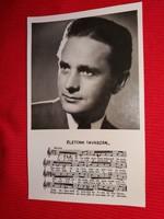 Antik 1942 Szilassy László portrés képeslap gyönyörű postatiszta gyűjtői állapotban a képek szerint