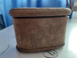 Antik szarú sótartó
