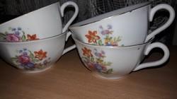 Drasche, 4db gyönyörű teás csésze, bögre, pohár