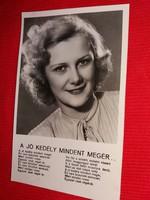 Antik 1942 Goll Bea portrés képeslap gyönyörű postatiszta gyűjtői állapotban
