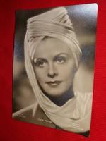 Antik 1942 Komár Dóra portrés képeslap gyönyörű postatiszta gyűjtői állapotban