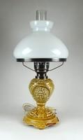 1B491 Régi elektromos majolika petróleum lámpa 52 cm