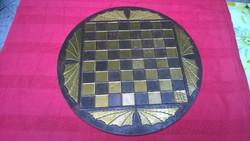 Réz sakktábla átm.36,5 /figurák nélkül
