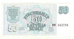 50 rubel rublu 1992 Lettország 3.