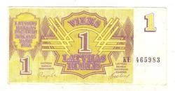 1 rubel rublis 1992 Lettország 2.