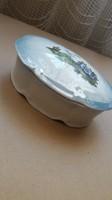 Drasche gyönyörű, egyedi bonbon tartó vagy ékszertartó, kék alapon szép mintával