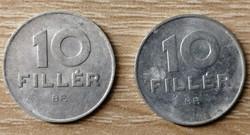10 Fillér 1971; 1973 BP.