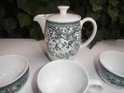 Porcelán - 7 db - SCHÖNVALD  - kanna 4 dl - 3 leveses csésze - 3 kávéscsésze - hibátlan