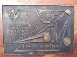 Retro Filmkritikusok Díja (bronz plakett), Kis Kovács Gyula érem művész műtárgya