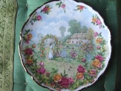 Csodaszép Royal Albert  Rózsakert tányér