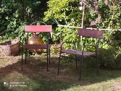 Vasvázas régi kerti székek 2 db leírás szerint