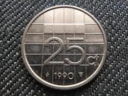 Hollandia Beatrix (1980-2013) 25 Cent 1990 (id30986)