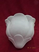 Fehér porcelán fali virágcserép.Magassága 17 cm.