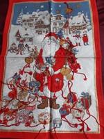 Karácsonyi adventi naptár, terítő 64x43cm
