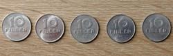 10 Fillér 1976; 1977; 1978; 1979; 1980 BP.