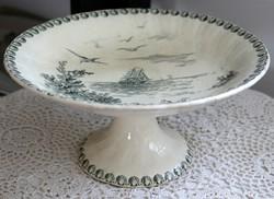 Porcelaine Opaque de Gien Terre de fer Ocean francia fajansz talpas kínáló, ritka