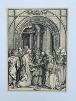 Albrecht Dürer - The Betrothal of the Virgin - vintage nyomat