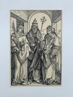 Albrecht Dürer - Sts. Lawrence, Sixtus and Stephen - vintage nyomat