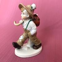 Sitzendorf német porcelán figura, sérült állapotban