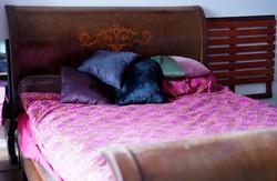 A XIX. sz. második felében készült késő bieder kétszemélyes ágy.