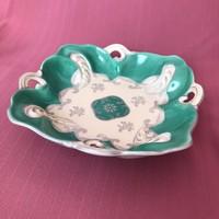 Schlegelmilch német porcelán tál - zöld színben