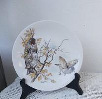Gyönyörű német madaras falitányér ,  Gyűjtői szépség