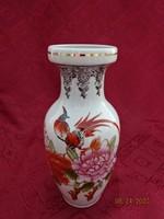 Japán porcelán váza, kézzel festett, magassága 20 cm.