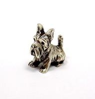 Ezüst kutya miniatűr figura (ZAL-R66923)