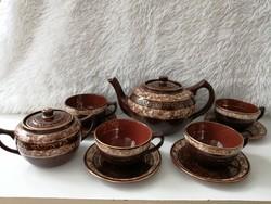 Városlődi teás garnitúra /4 személyes/